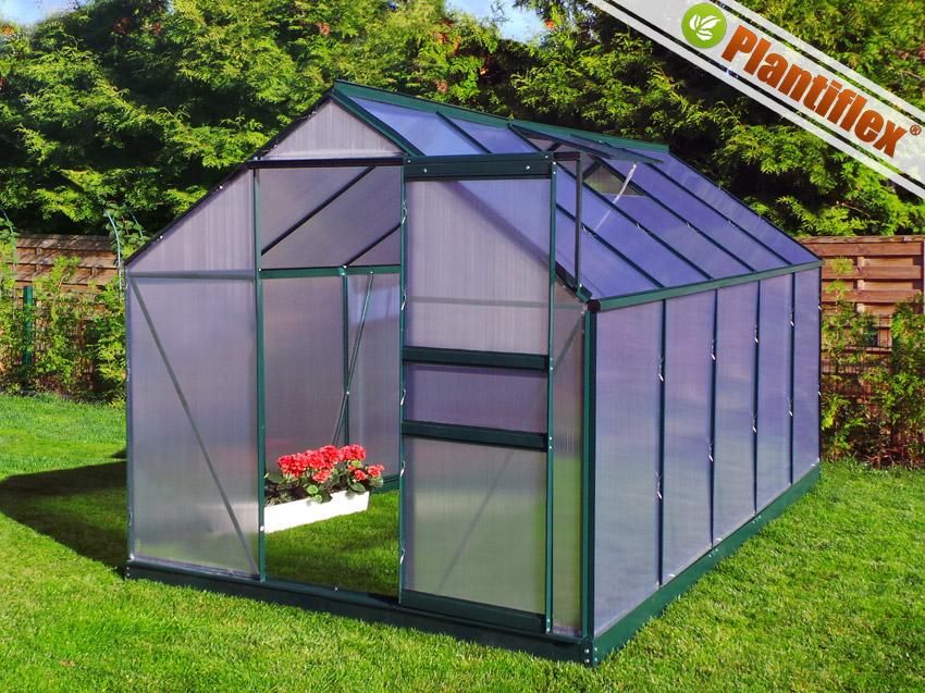 aluminium gew chshaus 5 89m 6mm verglasung fundament l ftungsfenster garten und. Black Bedroom Furniture Sets. Home Design Ideas