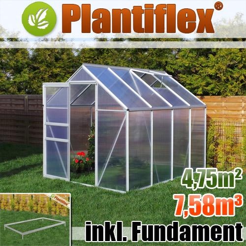 Gew chshaus mit fundament garten treibhaus tomatenhaus pflanzhaus plantiflex ebay - Gewachshaus garten ...