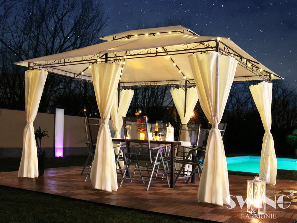 led pavillon 3x4m garten pavilon designer pavillion. Black Bedroom Furniture Sets. Home Design Ideas