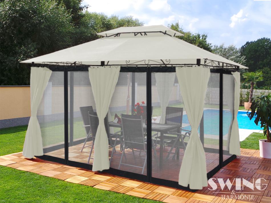 pavillon minzo mit moskitonetz die besten pavillons holz. Black Bedroom Furniture Sets. Home Design Ideas