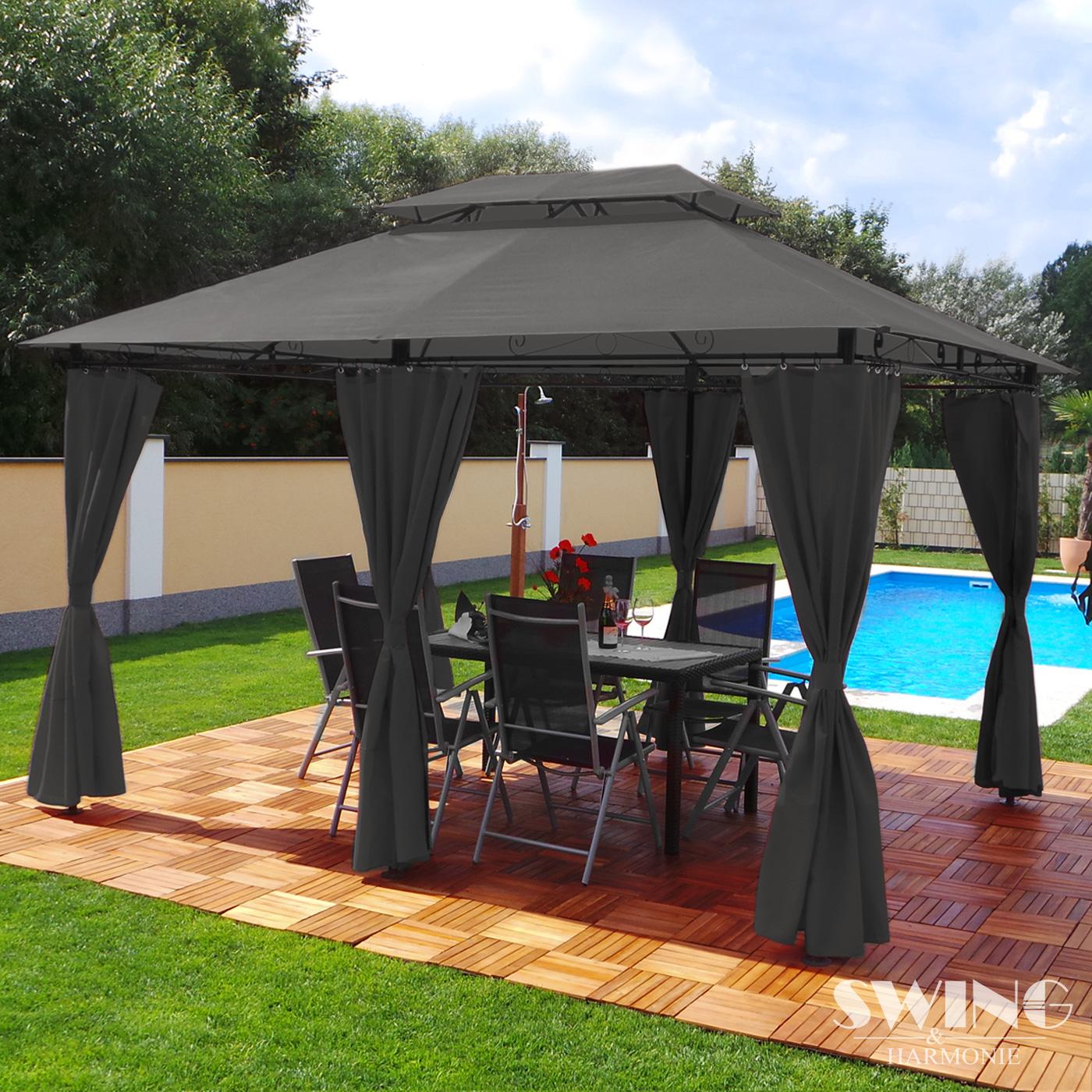 3x4 m gazebo<br> garden tent<br> pavilion garden ...