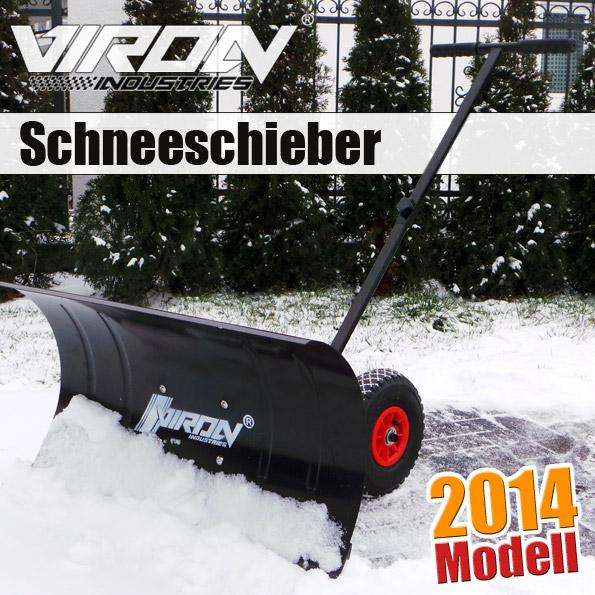Schneeschieber-mit-Raedern-Schneeschaufel-Schneepflug-Schneefraese-Schneeschild