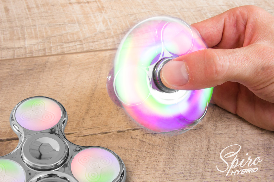fidget spinner mit led beleuchtung hand finger spiner tribar kreisel anti stress ebay. Black Bedroom Furniture Sets. Home Design Ideas