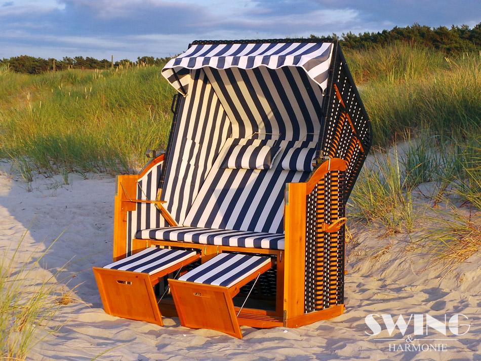luxus strandkorb xxl ostsee volllieger sonneninsel rattan m bel gartenm bel ebay. Black Bedroom Furniture Sets. Home Design Ideas